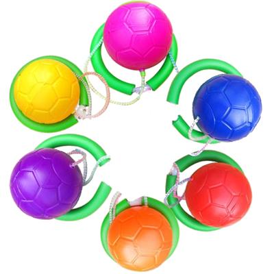 閃光跳跳球蹦蹦球兒童玩具彈力蹦蹦球閃電客成人旋轉跳環圈健身運動單腳甩腿球