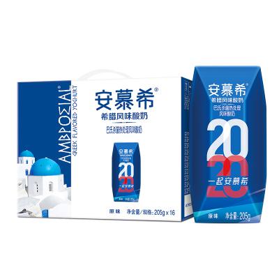 伊利 安慕希希臘風味酸牛奶原味205g*16盒