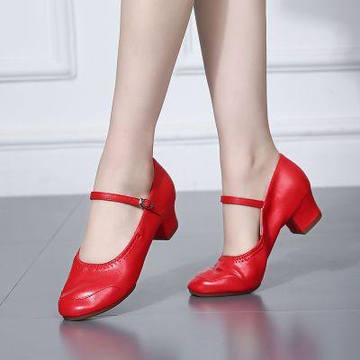 廣場舞鞋軟底女式水兵跳舞鞋舞蹈鞋練功鞋教師鞋四季交誼舞鞋中跟
