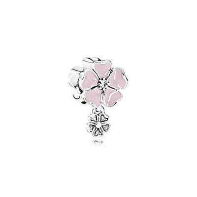 【直營】潘多拉(PANDORA) 詩意綻放花卉 925銀 吊墜吊飾串飾 女士 791827EN40