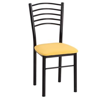 悦含 餐椅靠背椅子家用简易座椅现代简约铁艺欧式休闲皮面酒店