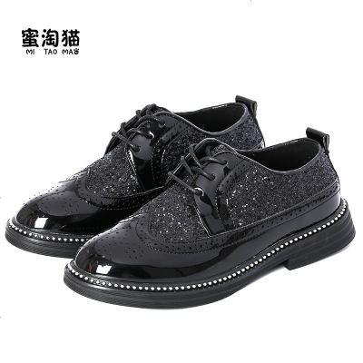 男童皮鞋 黑色英倫風 大中小男孩軟底小學生花童兒童 新款演出鞋