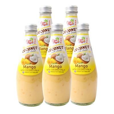 泰国进口 可可优 芒果味椰子饮料(含椰子果肉) 290ml*5瓶装