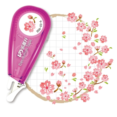 古風花邊修正帶彩色手帳膠帶_素材和紙貼紙工具套裝_可愛學生貼畫 紫陽花