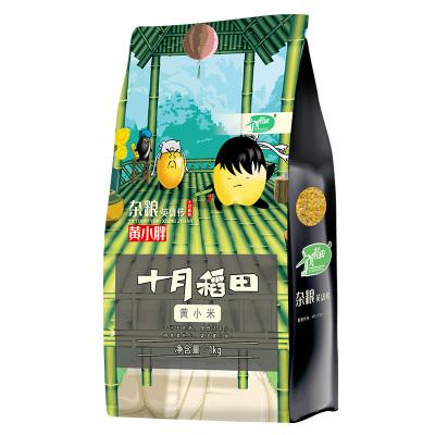 十月稻田 黄小米 (杂粮新米 小黄米月子米熬粥食用 真空装)1kg*2