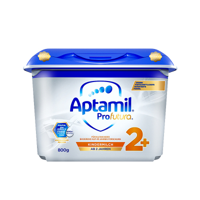 德國產愛他美 安心罐 白金版 雙重HMOs Aptamil海外 幼兒配方奶粉2+段 5段 2歲及以上800G