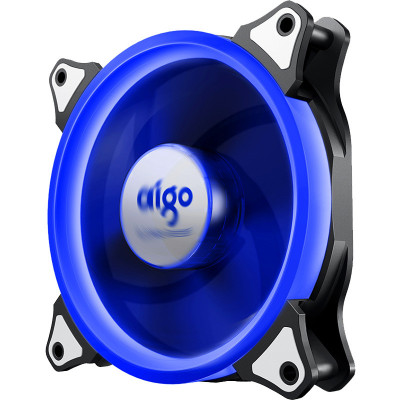 愛國者 DIY機箱風扇 散熱器 極光12cm 單色藍
