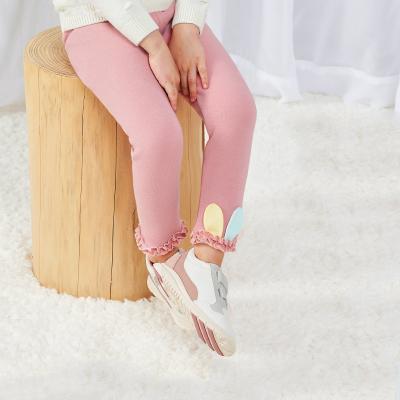 欧孕女童加绒打底裤2019春秋新款外穿儿童裤子冬季宝宝加绒保暖裤
