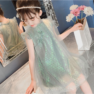 女童夏裝唐裝漢服裙子童裝女連衣裙兒童裝小女孩公主裙夏季背心裙