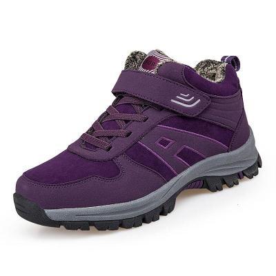冬季雪地靴女妈妈运动鞋加绒加厚保暖棉鞋防滑户外中老年旅