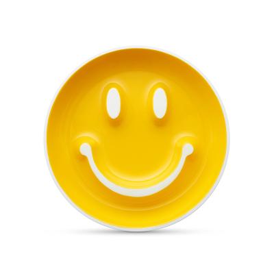 满趣健(munchkin)母婴婴幼儿童餐具 Smile N Scoop 笑脸吸盘训练盘-黄型号27143-黄 PP材质
