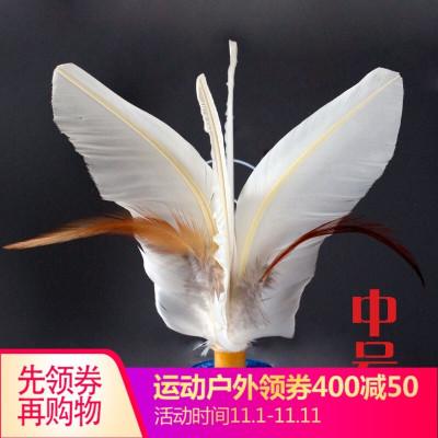 因樂思(YINLESI)丹東金龍毽子比賽專用健身小雞毛羽毛花毽牛筋底