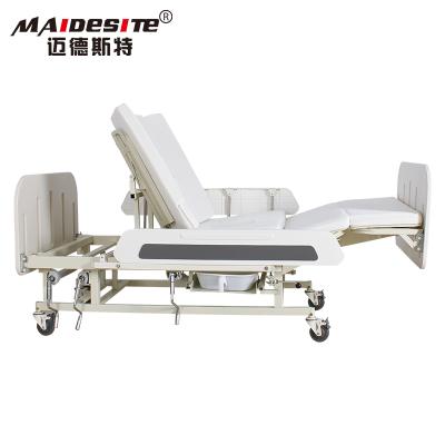 邁德斯特護理床MD-E55家用老人多功能翻身病床防下滑防側滑帶便孔手動款