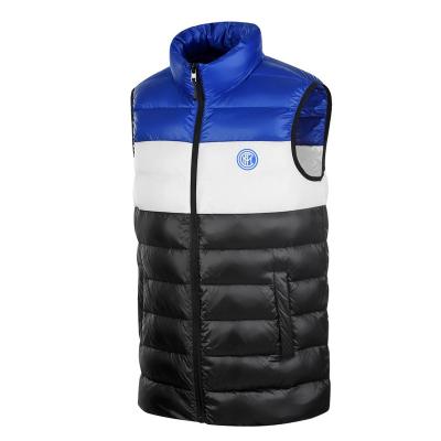 國際米蘭俱樂部Inter Milan 官方新品戶外拼色羽絨服運動跑步健身馬甲男女短款輕薄防風保暖立領背心外套
