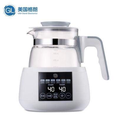GL格朗智能恒温调奶器暖奶器 恒温水壶玻璃电热水壶 温奶器养生壶冲奶器婴儿泡奶粉机1000ML GLT-8