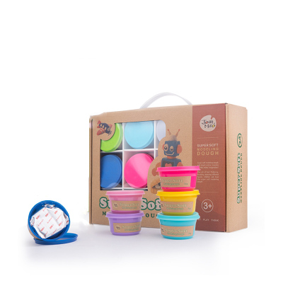 JoanMiro 美樂橡皮泥無毒彩泥兒童模具工具套裝粘土女孩玩具diy制作手工泥 24色