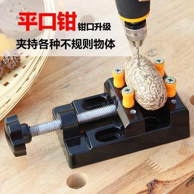 平口钳精密虎钳台 小型迷你家用多功能台钳子 微型工作台小台钳