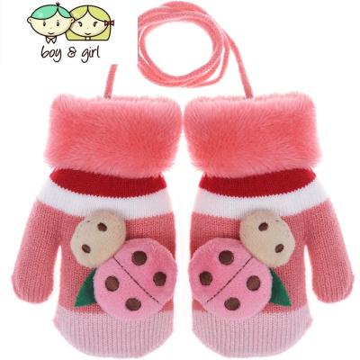 儿童连指手套一岁到两岁女童冬季男宝宝1-3岁可爱4-6岁小女孩手袜  喻娄