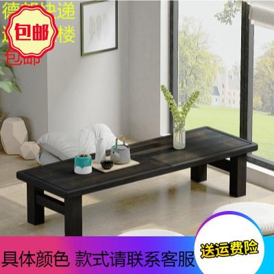 炕桌实木农村家用长方形简约矮桌子榻榻米坐地毯日式窗小茶几台