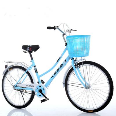 自行車男女式24寸26寸女士輕便休閑成人老人城市學生普通勤淑女20寸不變速