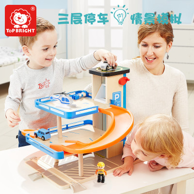 特宝儿(topbright)旋转停车场 女孩儿童玩具男孩轨道车套装早教益智玩具3-6岁生日礼物150154