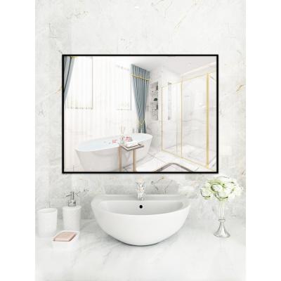 浴室鏡子貼墻自粘廁所洗手衛生間洗漱臺免打孔壁掛梳妝化妝掛墻式弧威