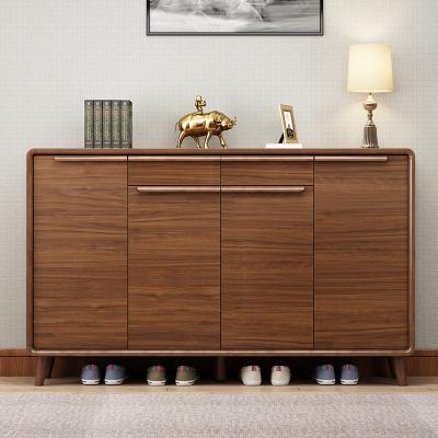 新柜尔(xin gui er furniture) 鞋柜实木板木结合大容量储物鞋柜可调鞋架