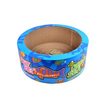 貓森林瓦楞紙貓窩貓抓板磨爪器 貓咪用品碗型貓爪板貓玩具 彩色貓窩
