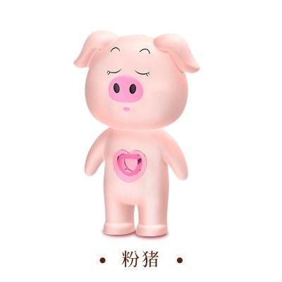 汽車靜電釋放器防靜電鑰匙扣神器車用去除人體靜電消除用品個性棒 粉色萌豬