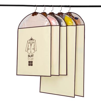 壹志大衣西装衣服防尘罩衣服罩子2大3中共5件套 无纺布挂袋收纳包衣物防潮防霉收纳袋防尘袋衣罩保护罩
