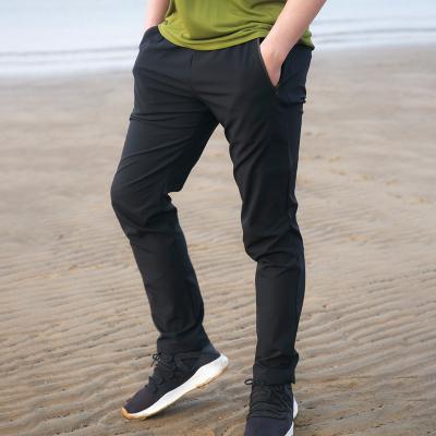 COLORETTO戶外男款速干透氣彈力小黑褲防潑水吸濕排汗速干褲