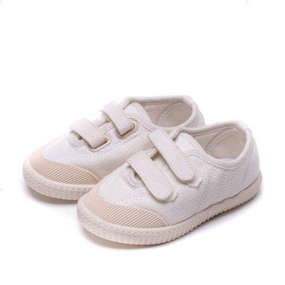 春秋寶寶布鞋女童男童鞋1-3-4歲幼兒園小童軟底兒童帆布鞋小白鞋