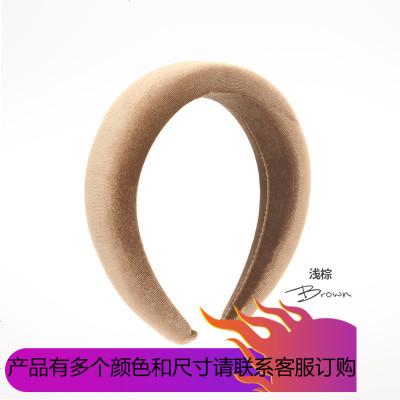 2019海綿發箍女百搭外出韓國網紅簡約氣質寬邊壓發帶頭飾頭箍韓式發卡
