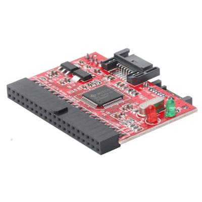 魔羯 MOGE MC3152 IDE--SATA2.0互转扩展卡卡3.5硬盘、刻录机光驱 IDE、SATA双向转接卡