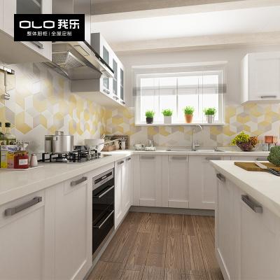我樂櫥柜現代諾特廚房櫥柜整體全屋定制開放式廚房灶臺柜一體裝修