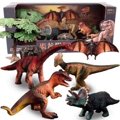 過凡 GUOFAN 兒童恐龍玩具 侏羅紀動物仿真模型翼龍特暴龍三角龍頭骨龍腕龍禮盒裝3-10周歲