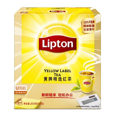 立頓茶包茶葉紅茶袋泡茶包立頓黃牌精選紅茶100包 立頓茶包紅茶包