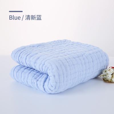 睿智媽媽(witmoms)寶寶浴巾 新生嬰兒幼兒童六層紗布全純棉抱毯純彩色洗澡巾夏涼蓋毯105cm*105cm