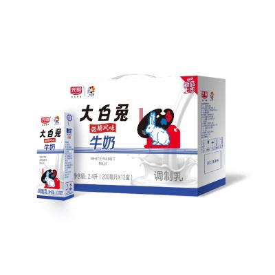 12月新货 光明新品大白兔奶糖风味牛奶 儿时童年回忆调制乳常温奶200ml*12盒/提