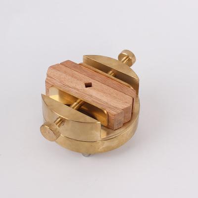 雙頭純黃銅篆 可拆卸款 纂刻印章工具 刻印床360度旋轉圓形銅印床