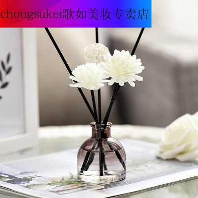 chongsukei 無火香薰家用凈化室內空氣清新劑藤條干花香持久無火擴香件