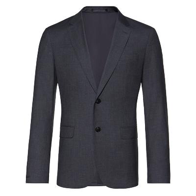 碼尚定制MatchU抗皺微彈段染套西 購買后收到短信在線量體定制 2020春秋季新款商務男士西服套裝 深灰色