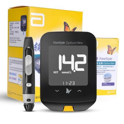 雅培血糖儀 輔理善越佳型至新 家用測血糖血酮儀器 虹吸式電子血糖儀器 50片試紙+50支針頭