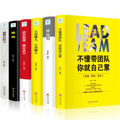 6冊不懂帶團隊 領導力 三分管人 勝在制度 格局 超級自控力企業團隊銷售營銷員工餐飲酒店原則 管理類書籍