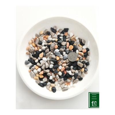 ,大小雨花石鹅卵石彩色石头鱼缸鹅软石五彩石盆栽白石子陶粒彩石