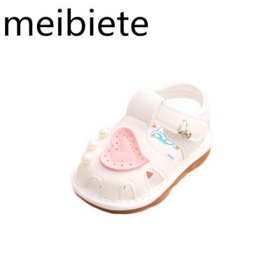 夏季寶寶涼鞋0-1-2歲女童鞋防滑叫叫鞋軟底公主鞋學步鞋 嬰兒鞋子