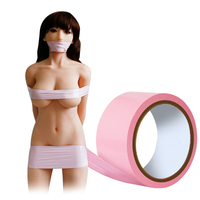 谜姬(Mizz Zee)捆绑绳子sm捆绑带捆绑器女性床上捆扎束缚带捆扎绳情趣待用品静电胶带粉色长15米