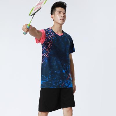 羽毛球衣服套裝男女2020新款速干短袖乒乓球服網球運動服上衣印字