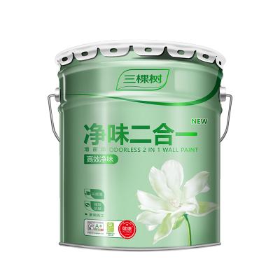 三棵樹漆(SKSHU)健康+內墻乳膠漆 凈味二合一墻面漆 25KG 亞光