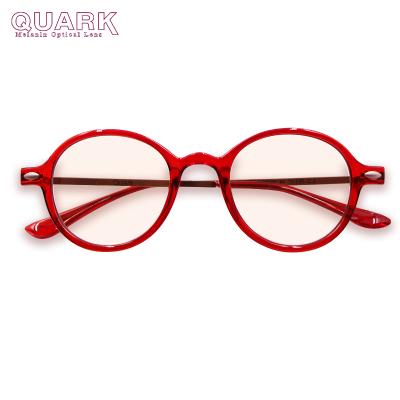 美国专利Quark防蓝光眼镜新品电脑手机防辐射防紫外线镜黑色素防护镜电脑抗眼疲劳护目镜复古圆框全框日夜防蓝光平光眼镜